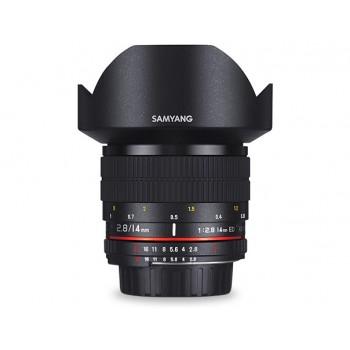 Samyang 14mm f/2.8 Aspherical IF ED UMC (Sony E-mount) + Statyw Velbon EX-Mini
