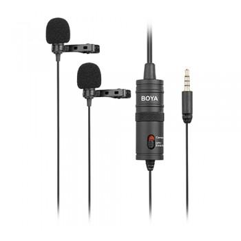 BOYA BY-M1DM Mikrofon krawatowy podwójny