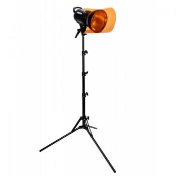 Quadralite VideoLED 600 Lampa + statyw Verso 190 AL Basic + filtry żelowe